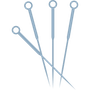 Acupuncture needle icon