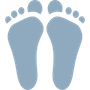 Custom Orthodic feet icon