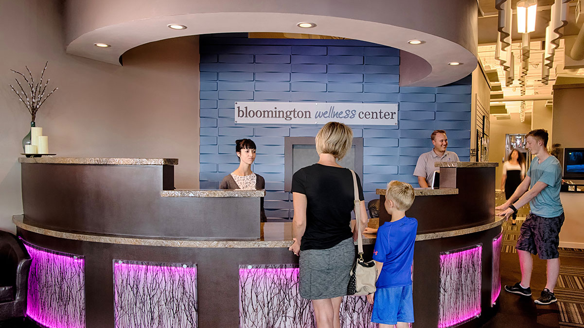 Bloomington Wellness Center front desk image